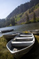 Boats at the lakeside, Mammoth Mountain, California